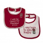 England Rugby Baby Bibs (Pack 2)