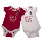 England Rugby Baby Grows (Pack 2)